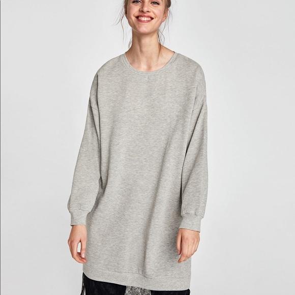 126d1fdf Zara Grey Oversized Sweatshirt Dress. M_5acd9fb3c9fcdff6c93bda96